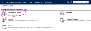 quaytech-systems-dynamics-365-Updating-the-Mobile-Account-Form-in-Dynamics-365-02-customize-the-system