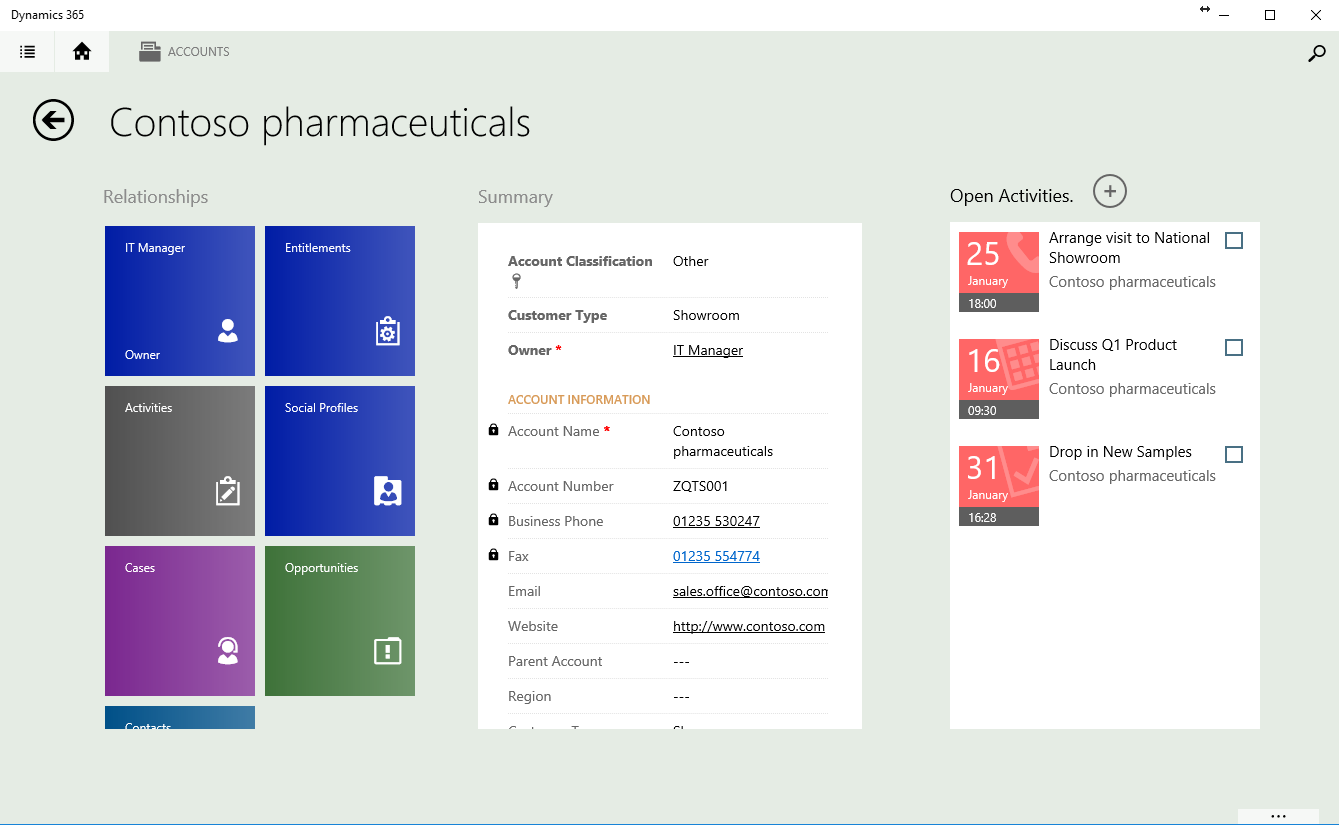 Updating the Mobile Account Form in Dynamics 365